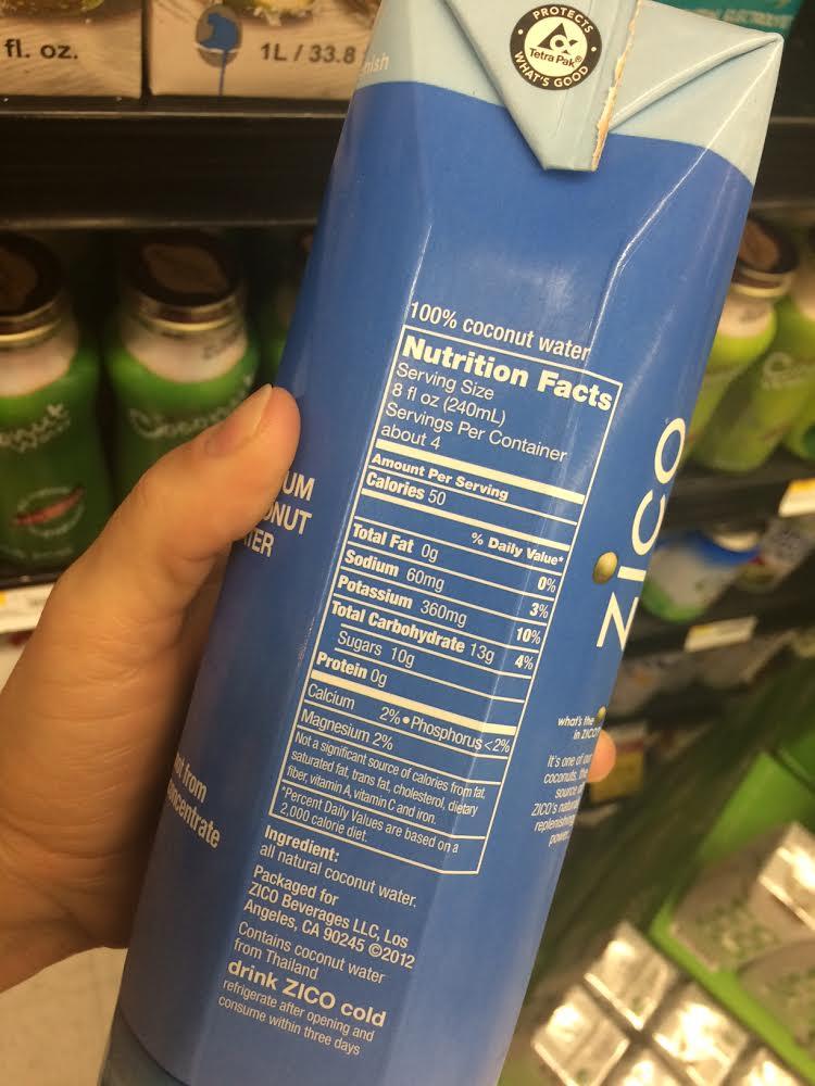 Zico ingredients